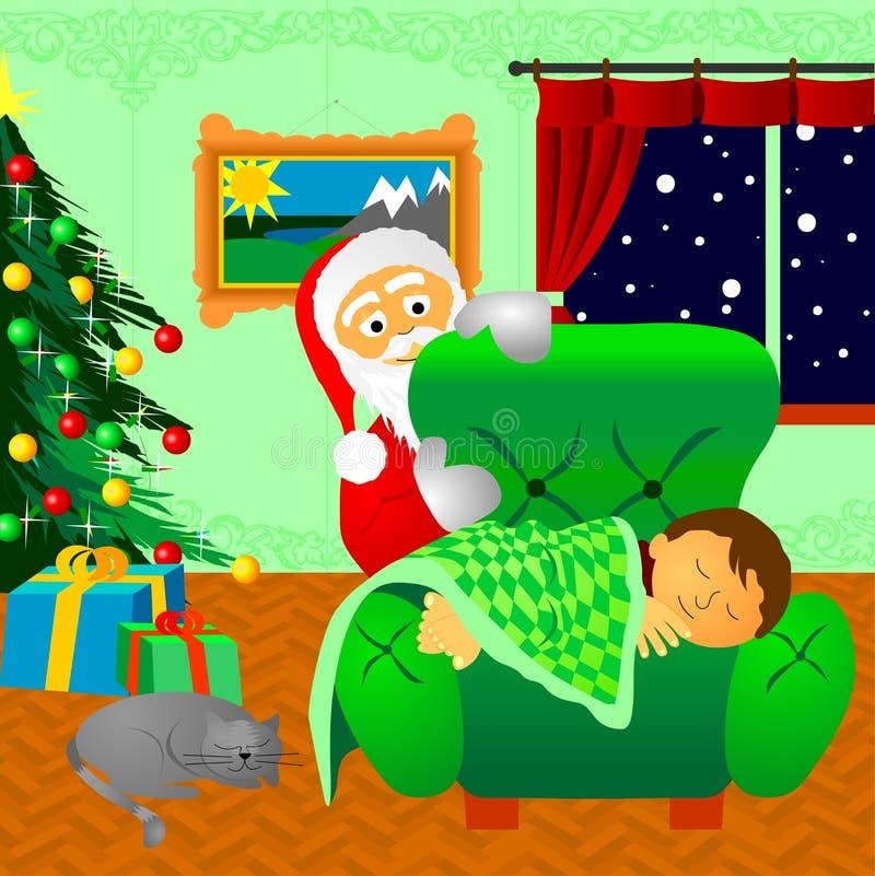 Para Papá Noel que espera fotografía de archivo libre de regalías