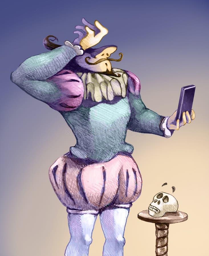 Para piar ou não ao treew ilustração royalty free