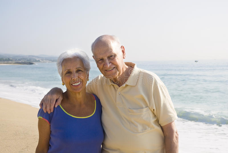 para plażowy senior zdjęcia stock