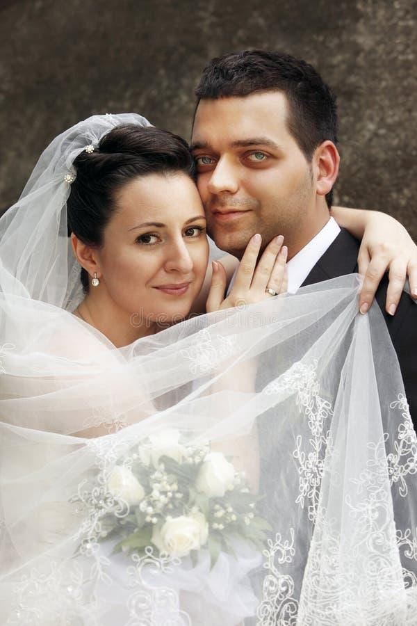 para poślubiająca niedawno zdjęcia stock