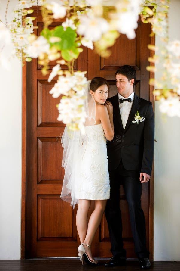 Para Poślubiający Dostaje zdjęcie royalty free
