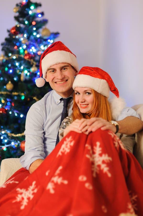 Para podczas boże narodzenie wakacji zdjęcia royalty free