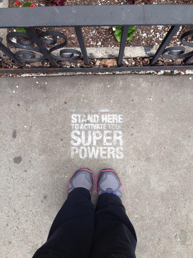 Para poderes do super-herói fotografia de stock royalty free