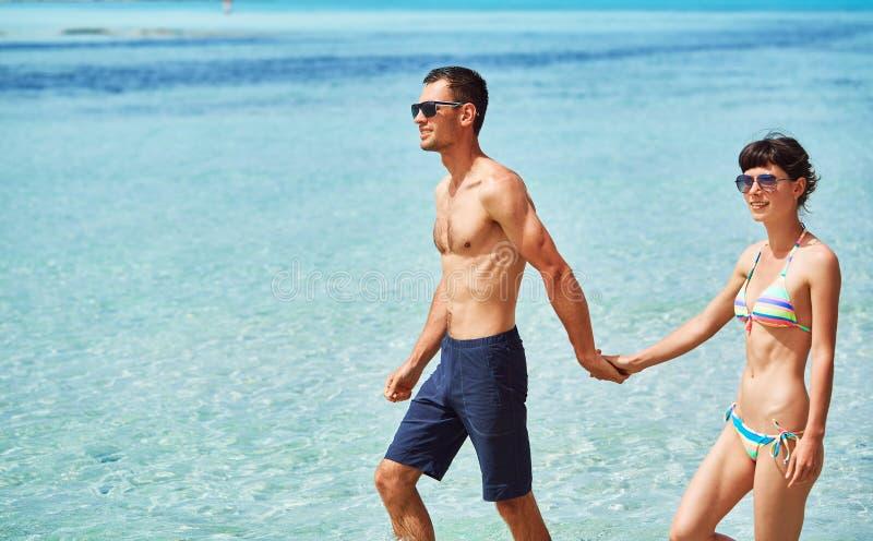 Para przy morzem zdjęcia stock