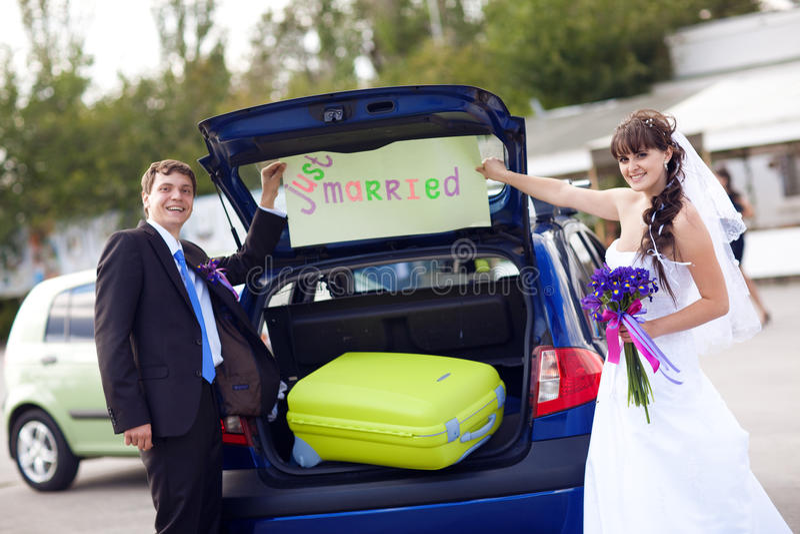 Para przygotowywająca podróżować obrazy royalty free
