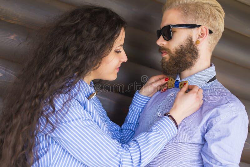 Para przygotowywający dostaje zdjęcia stock