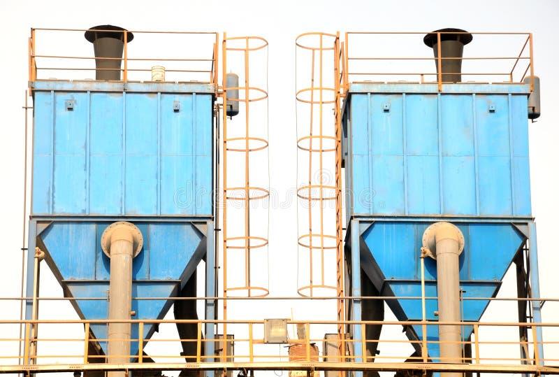 Para pyłu poborca w błękitnym kolorze obraz stock