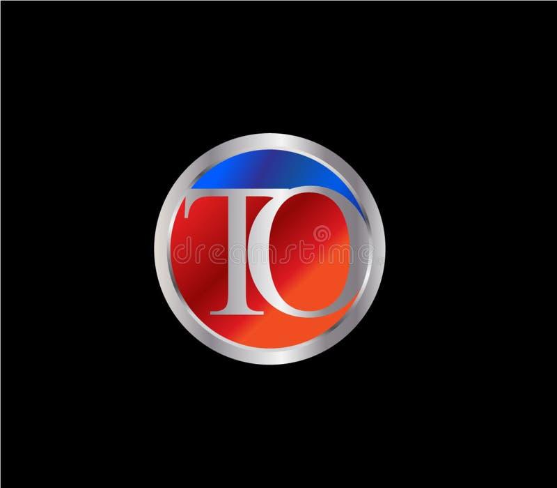PARA rubricar el color plata azul rojo Logo Design posterior de la forma del c?rculo stock de ilustración