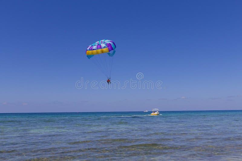 Para Sailing Playa Mia Mexico stock photos