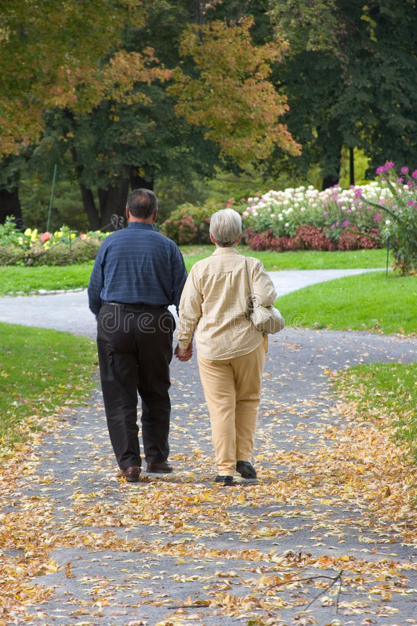 para senior park zdjęcia royalty free