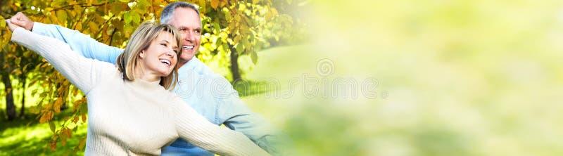 para seniora uśmiecha się obraz stock