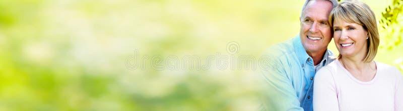 para seniora uśmiecha się zdjęcia stock