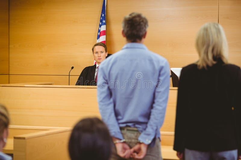 Para sentencia que espera criminal fotos de archivo libres de regalías