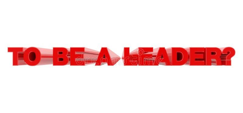 PARA SER LEADER palabra roja en ilustración de fondo blanco representación 3D libre illustration