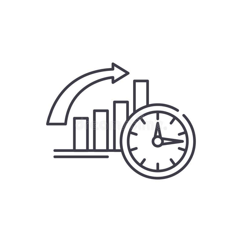 Para ser a tiempo línea concepto del icono Para ser a tiempo ejemplo linear del vector, símbolo, muestra stock de ilustración