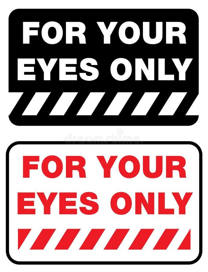 Para seus olhos somente ilustração do vetor