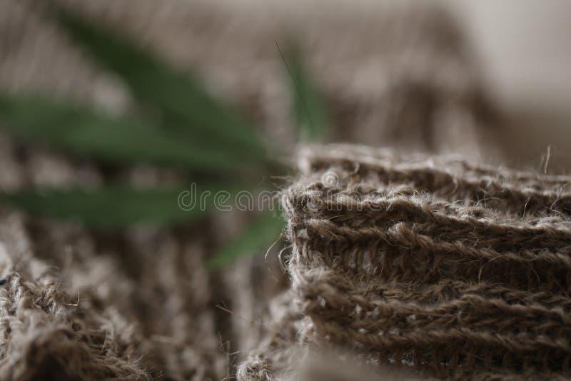Para skarpety włókna konopiana tkanina fotografia royalty free
