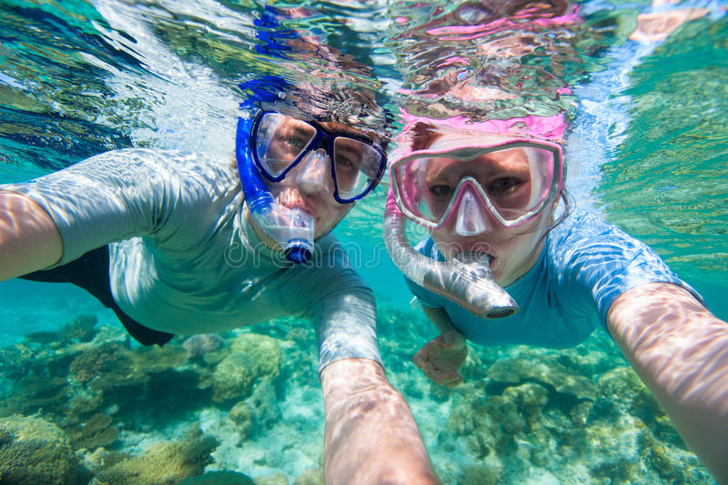 Para snorkelling obraz royalty free