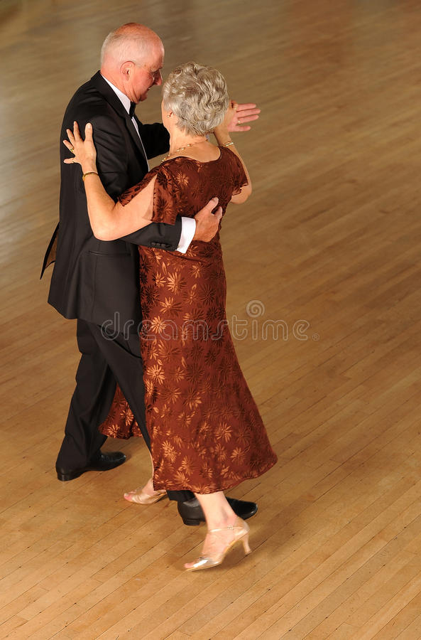 Para starszy taniec obraz stock