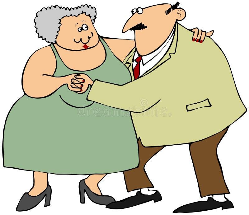 Download Para stary taniec ilustracji. Obraz złożonej z otyłość - 26871090