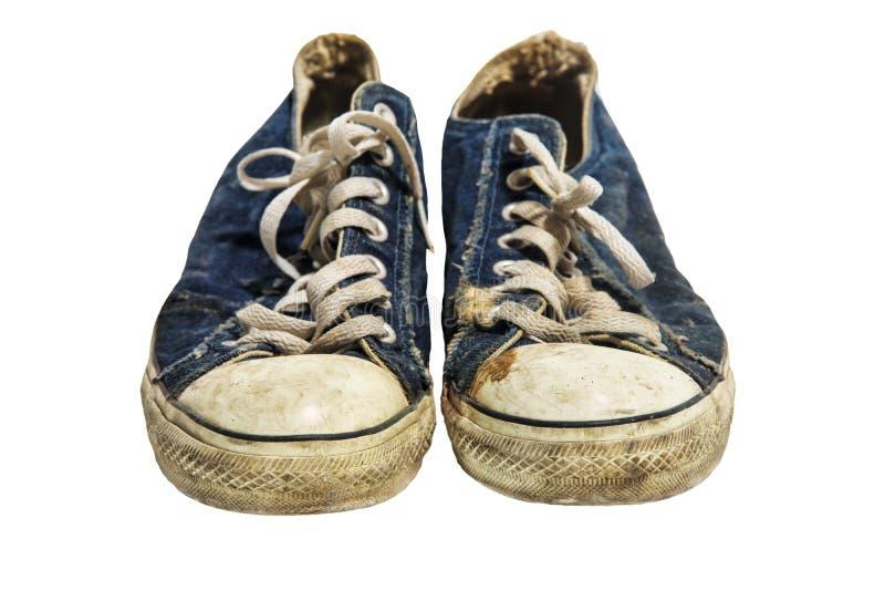 Para starzy błękitni sneakers zdjęcia royalty free
