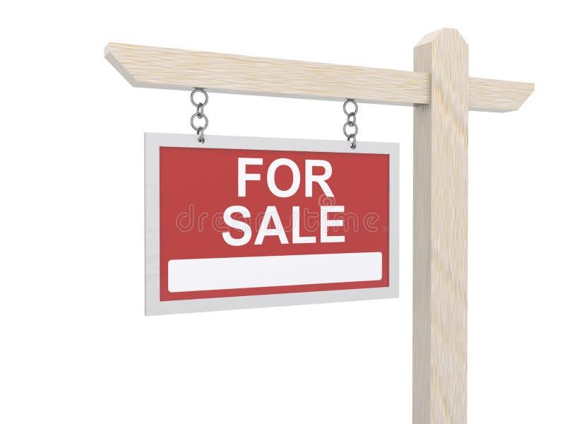 Para a suspensão da placa do sinal da venda ilustração royalty free