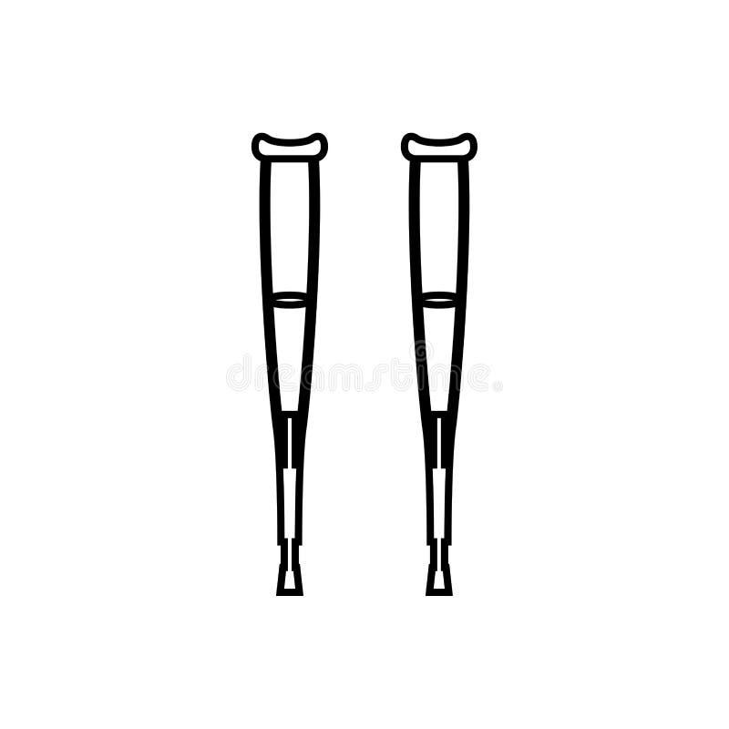 Para szczudła ja jest czarnym ikoną ilustracja wektor