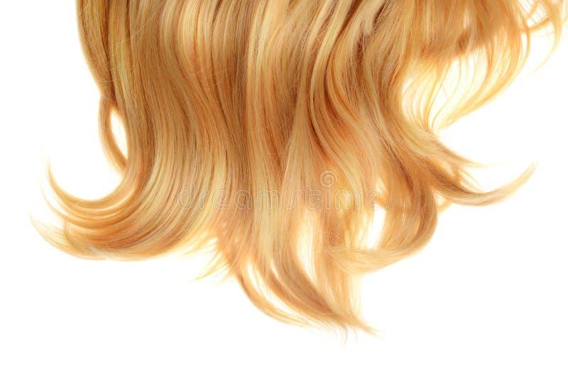 Para trás da peruca loura do cabelo curto isolada imagens de stock royalty free