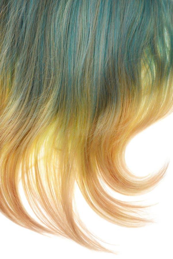 Para trás da peruca loura e azul da sombra isolada fotos de stock