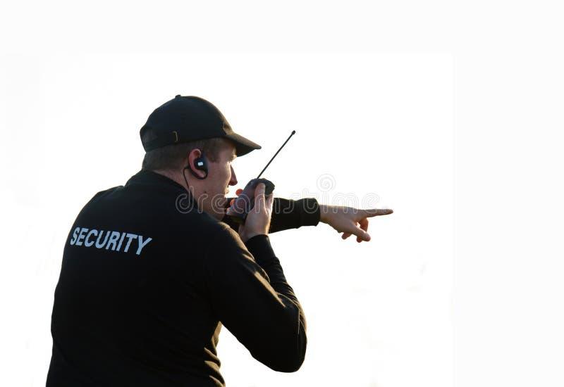 Para trás de um protetor de segurança foto de stock royalty free
