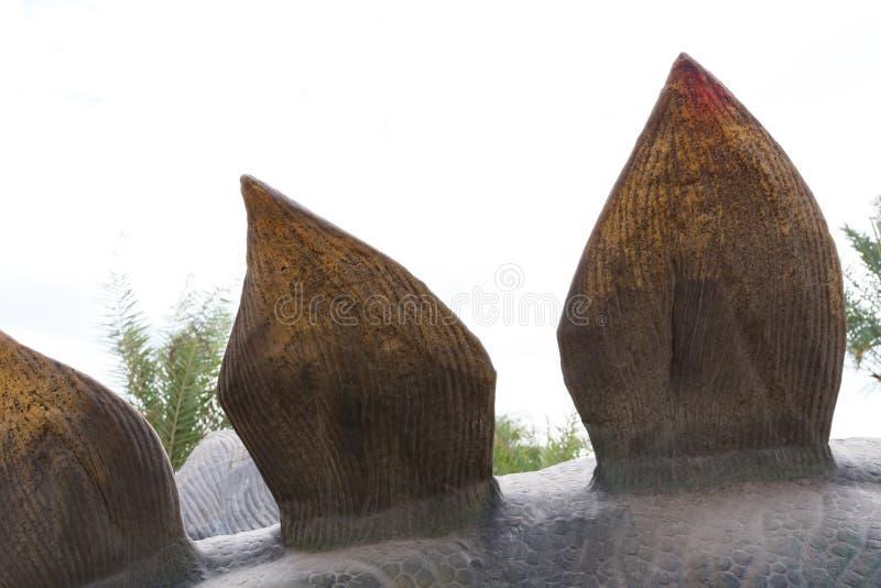 Para trás de um Stegosaurus imagem de stock royalty free