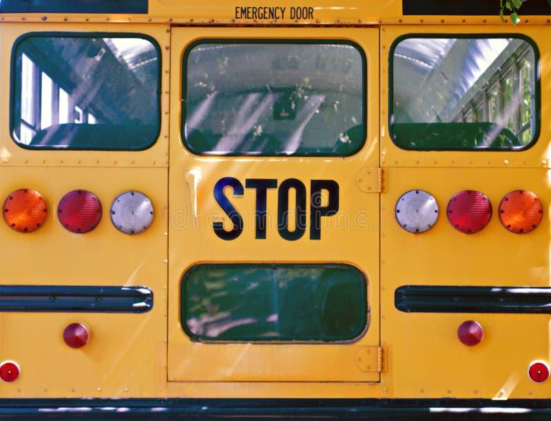 Para trás do auto escolar foto de stock