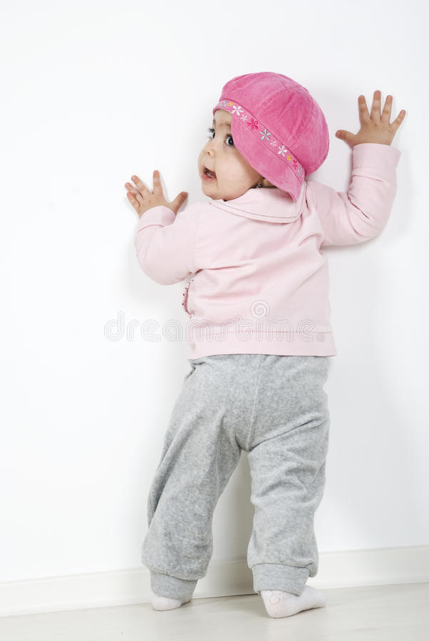Para trás do bebê cheio do corpo fotos de stock royalty free