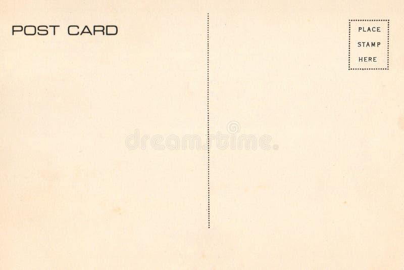 Para trás do cartão da placa do vintage fotografia de stock