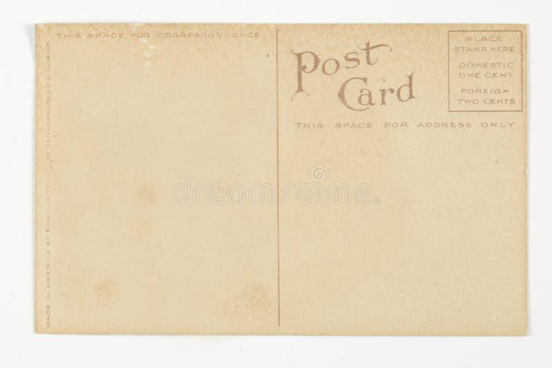 Para trás do cartão do vintage fotografia de stock royalty free