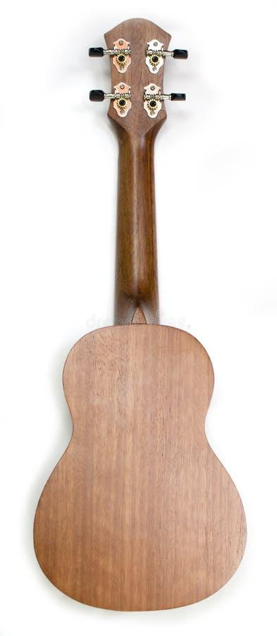 Para trás do instrumento de música da uquelele isolado fotografia de stock