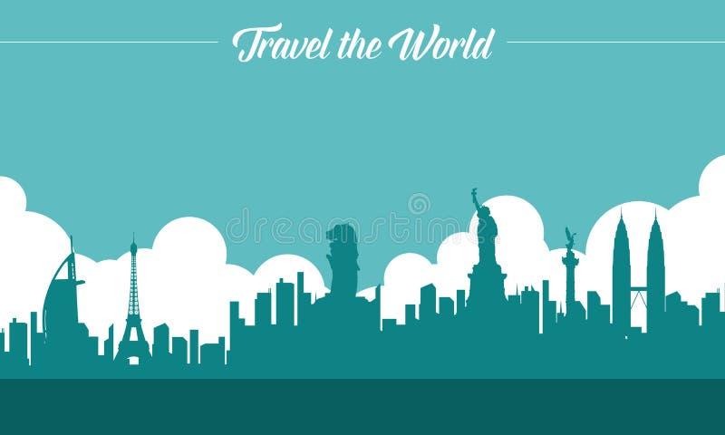 Para viajar é viver fundo do estilo ilustração royalty free