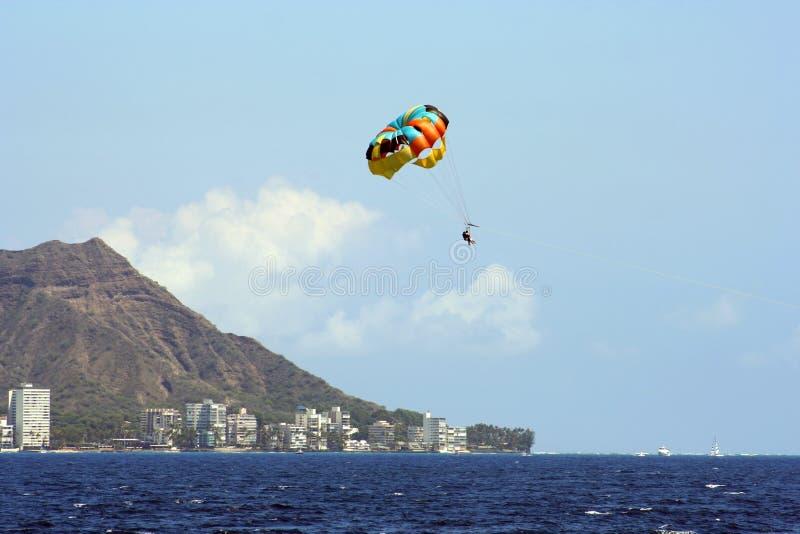 Para-voile d'Hawaï   photo stock