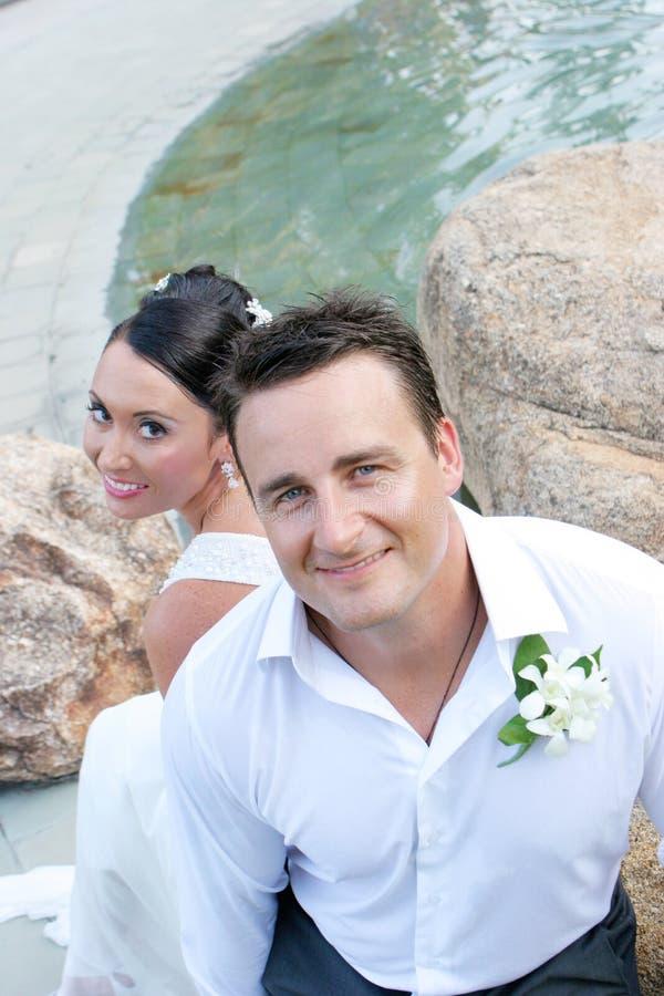 para właśnie poślubiająca obrazy royalty free