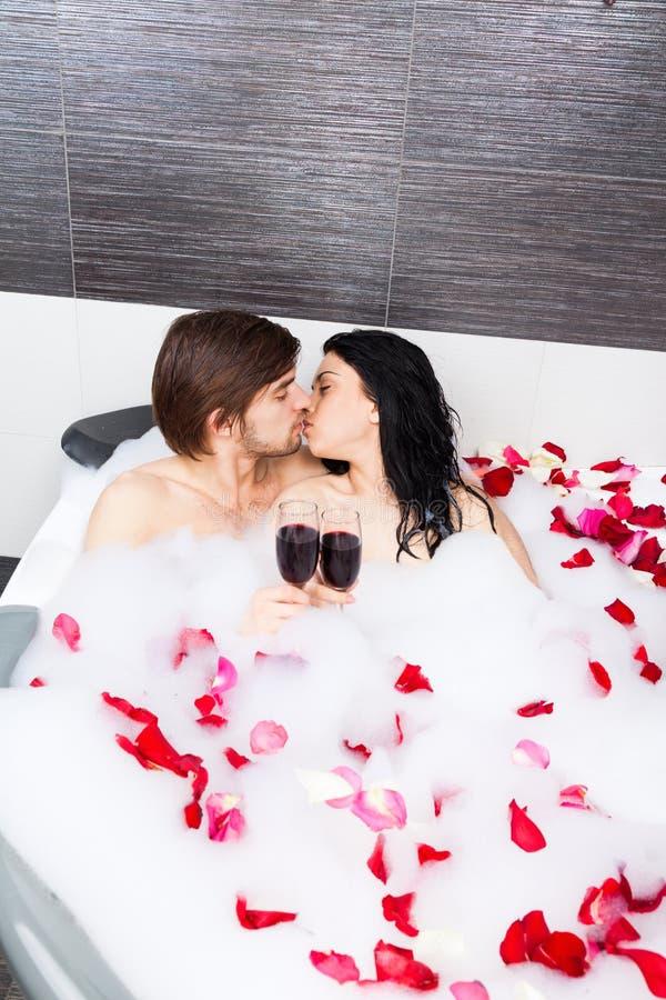 Para w łazience zdjęcia stock