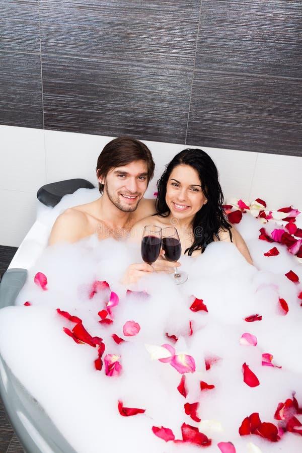 Para w łazience obrazy stock