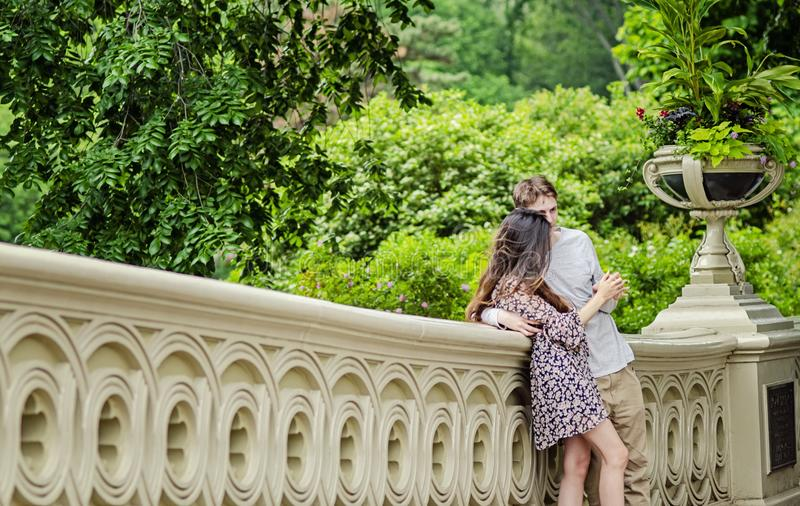 Para w central park Miasto Nowy Jork obrazy royalty free