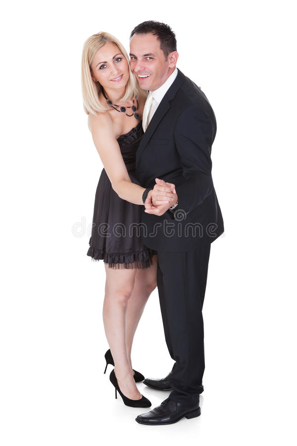 Para w formalnym ubioru tanu obraz royalty free