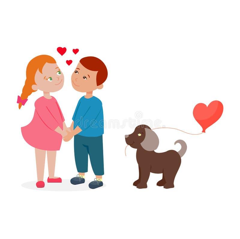 Para w miłość wektorze ilustracja wektor