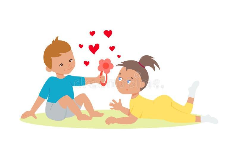 Para w miłość wektorze ilustracji