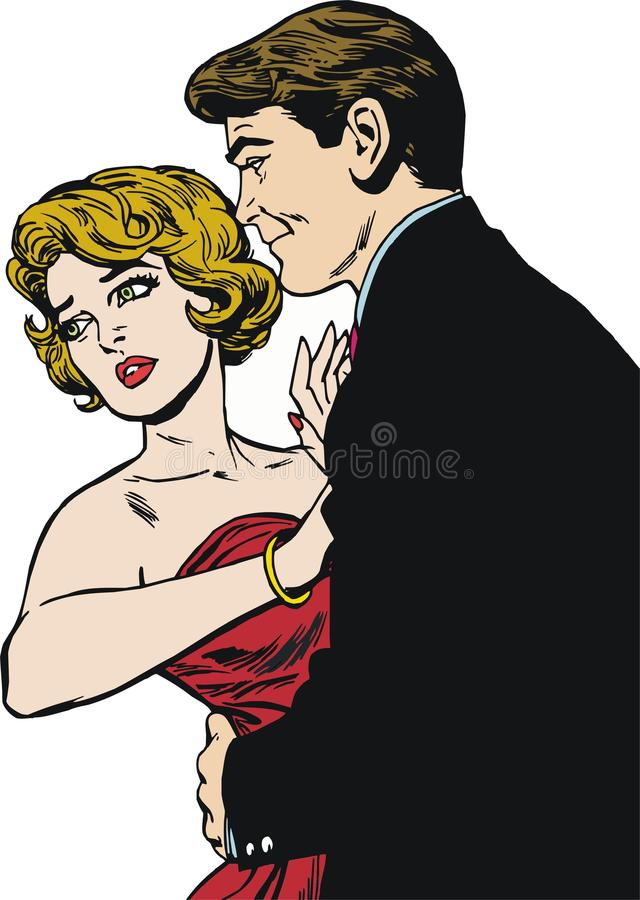 Para w miłości royalty ilustracja