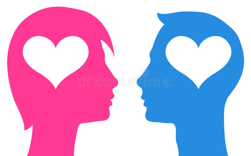 Para w miłości ilustracja wektor