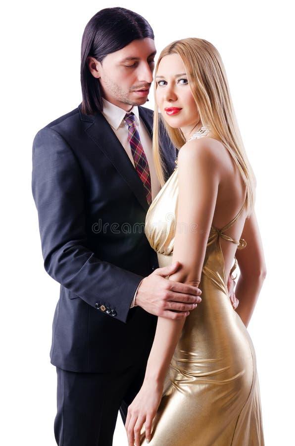 Para w romantycznym pojęciu fotografia stock