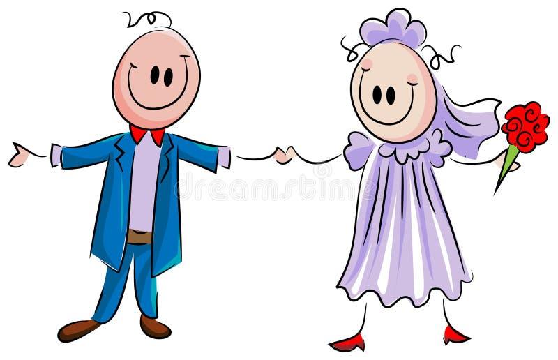 para za mąż royalty ilustracja