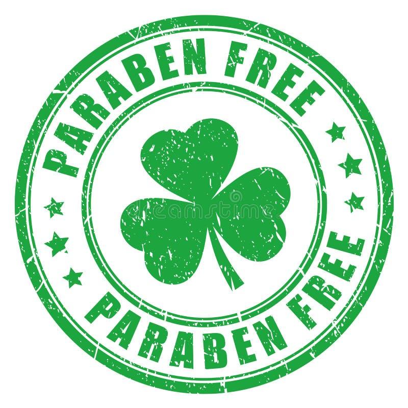 Paraben free stamp stock illustration